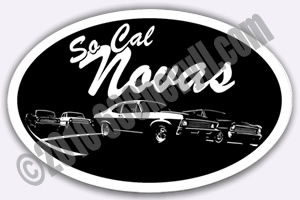 SoCal Novas Sticker